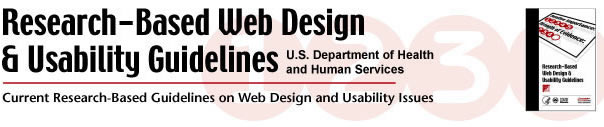 research-based web design & usability guidelines The research-based web design & usability guidelines (guidelines) were developed by the us department of health and human services (hhs), in partnership with the us general services.